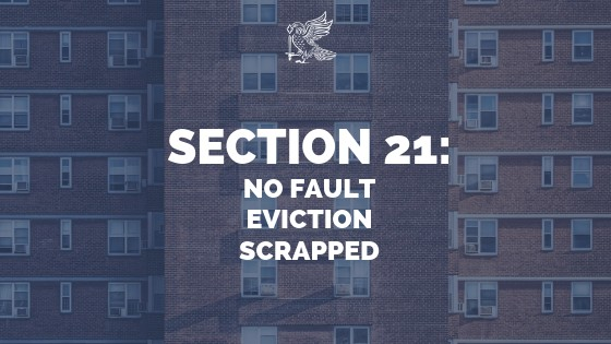Section 21 Changes: No Fault Eviction Scrapped